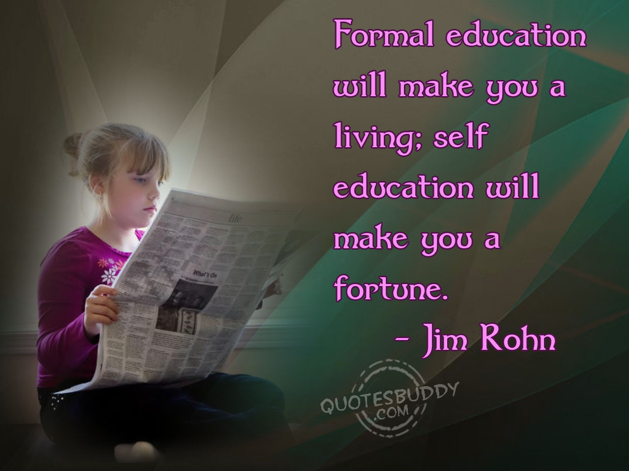 Is Education The Key To Being Rich - RealismQuotation On Education And Success